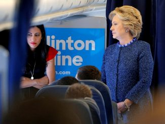 Huma looks worried