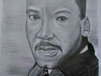 sketch of Martin Luther King Jr by April L. Grosier