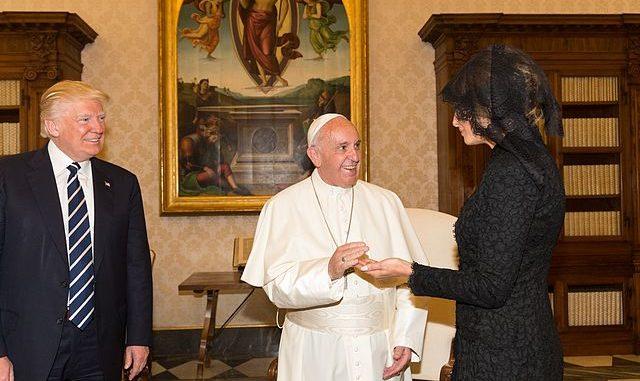 Trump, Pope, Melania