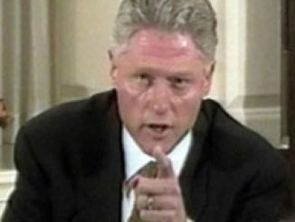 Bill Clinton points finger