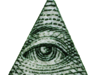 Illuminati triangle eye