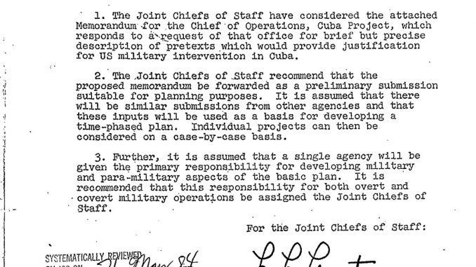 Operation Northwoods false flag proposal